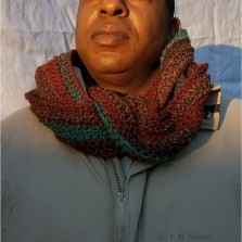 This scarf looks great on women and men!