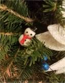 Snowman detail. His scarf hides the floral wire!