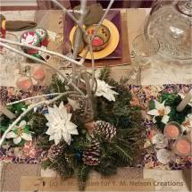 Christmas Centerpiece from above